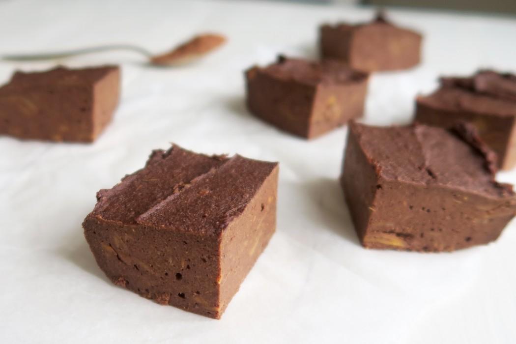 Chocolade brownie van zoete aardappel