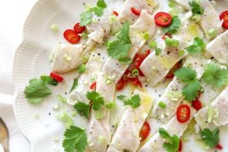 Ceviche van zeebaars met een thais tintje