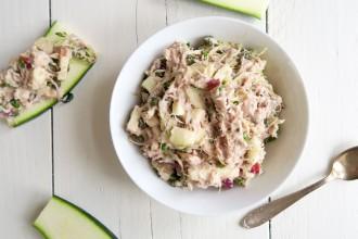Super healthy tonijn salade met kappertjes en kiemen