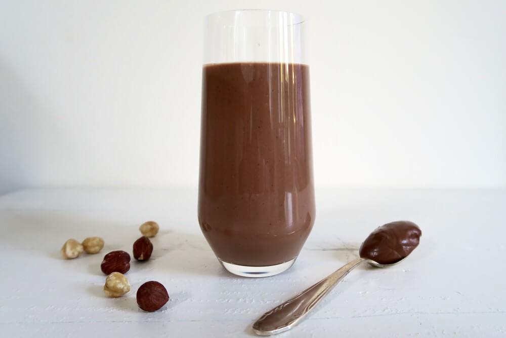 Nutella ontbijt smoothie