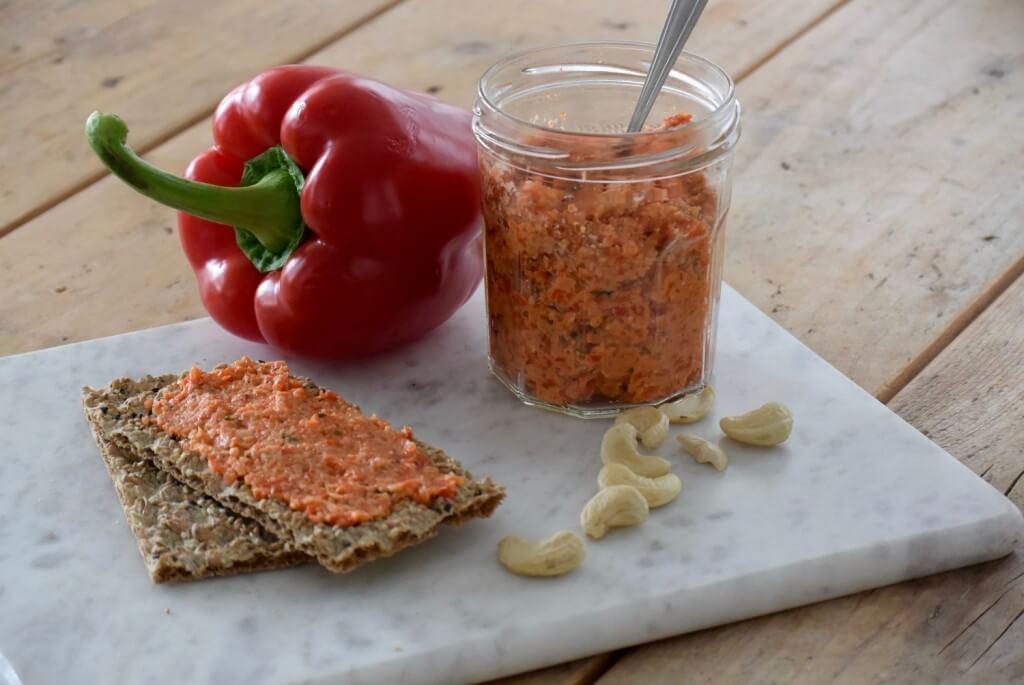 Paprika spread met cashewnoten