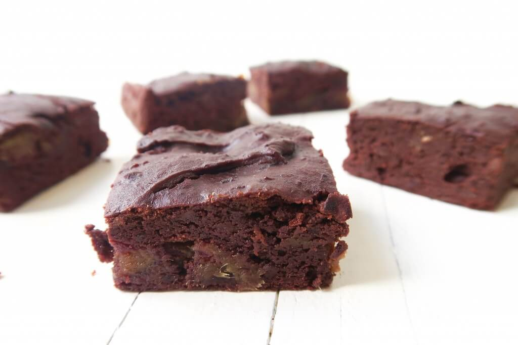 Chocolade brownies van zwarte bonen
