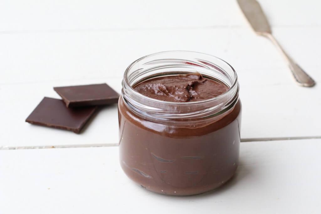 Gezonde chocolade pasta