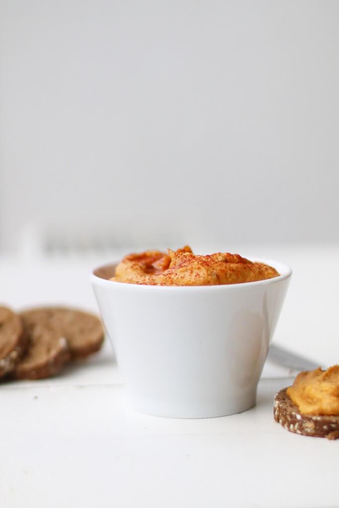 Pittige zoete aardappel dip