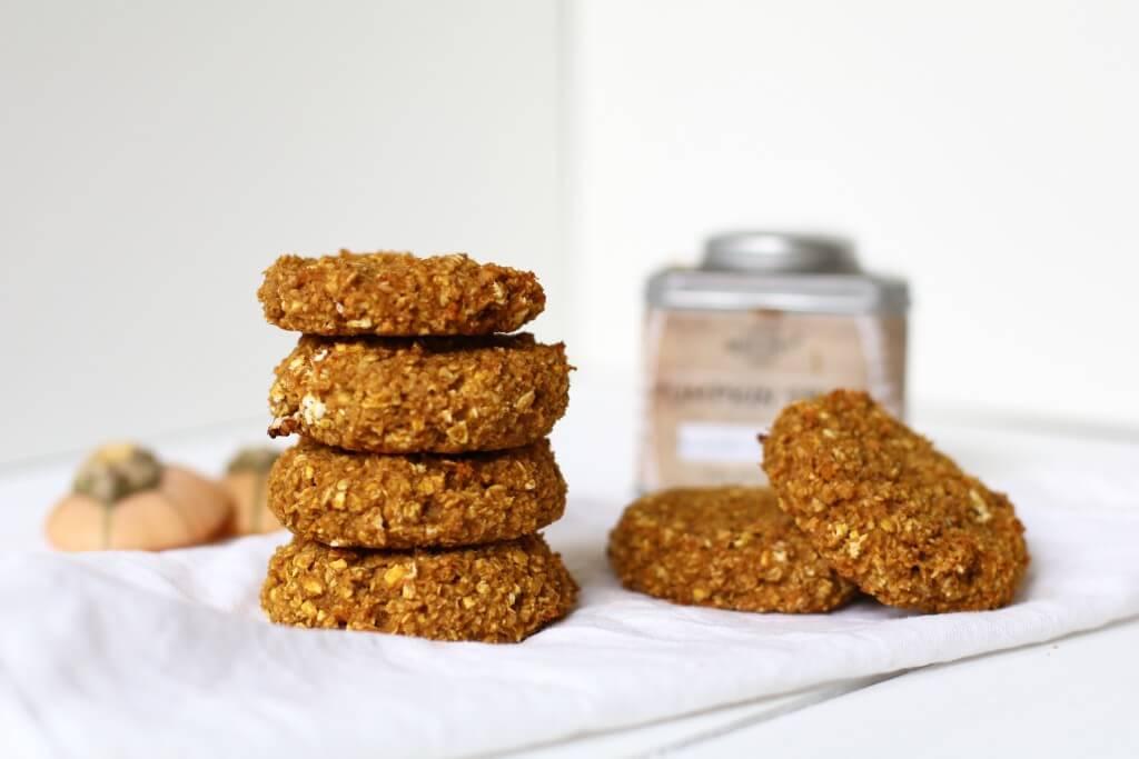 Havermout ontbijt koekjes met pompoen