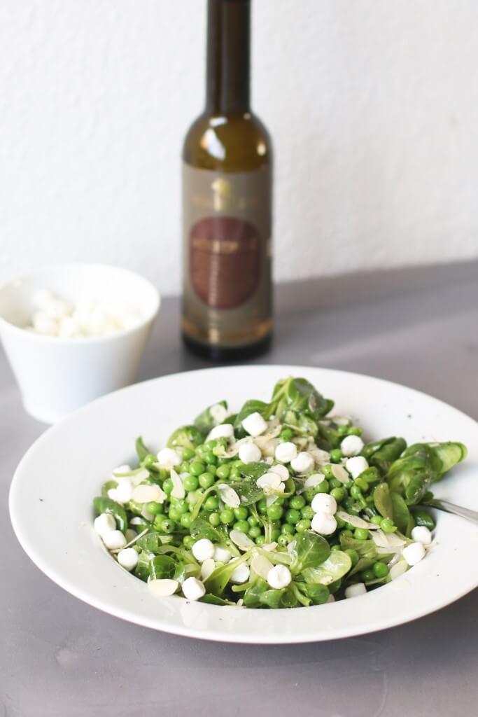 Doperwtensalade met geitenkaas, Gezonde maaltijd salades, Gezonde foodblogs, Lunchen zonder brood, Glutenvrij lunchen, Gezonde maaltijd salades