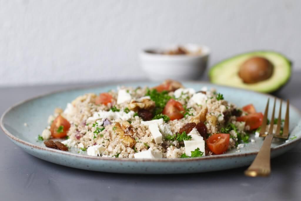 Couscous van bloemkool, Gezonde couscous, Glutenvrije couscous, Couscous recepten, Glutenvrije foodblogs, Couscous groenten, Gezonde foodblogs, Beaufood recepten, Vegetarische couscous