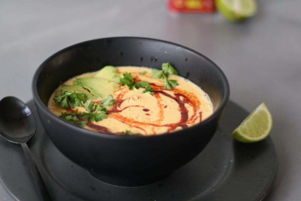 Mexicaanse maissoep (vegan), Veganistische soepen, Gezonde soepen, Soep van mais, gezonde foodblogs, Glutenvrije foodblogs, Soep avocado en mais