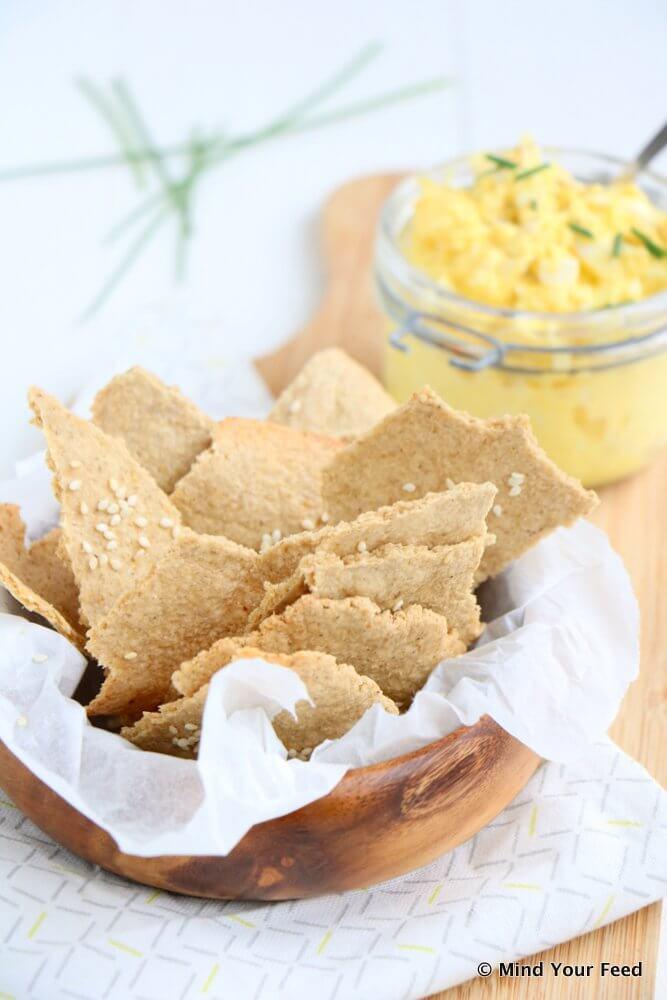 Zelf havermout crackers maken, Gezonde crackers recept, Zelf crackers maken, Glutenvrije crackers recept, Beaufood recepten, Glutenvrije foodblogs, Gezonde foodblogs