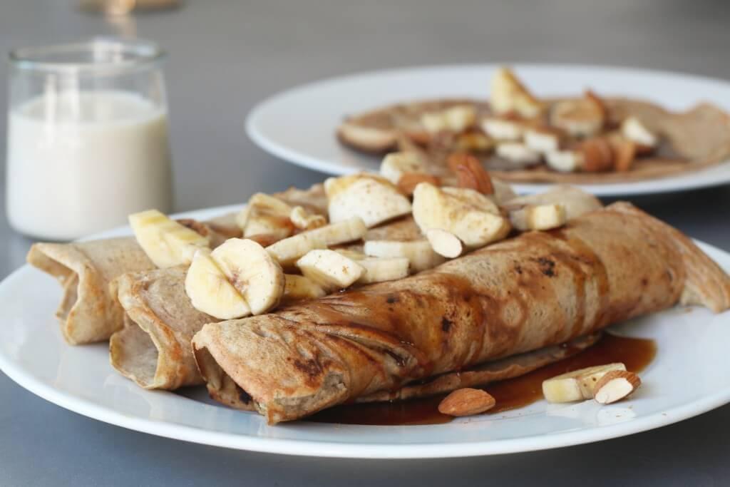Beaufood recepten, Boekweit pannenkoeken met dadelstroop, Gezonde foodblogs, Gezonde ontbijtjes, Gezonde pannenkoeken, Glutenvrije ontbijtjes, Glutenvrije pannenkoeken
