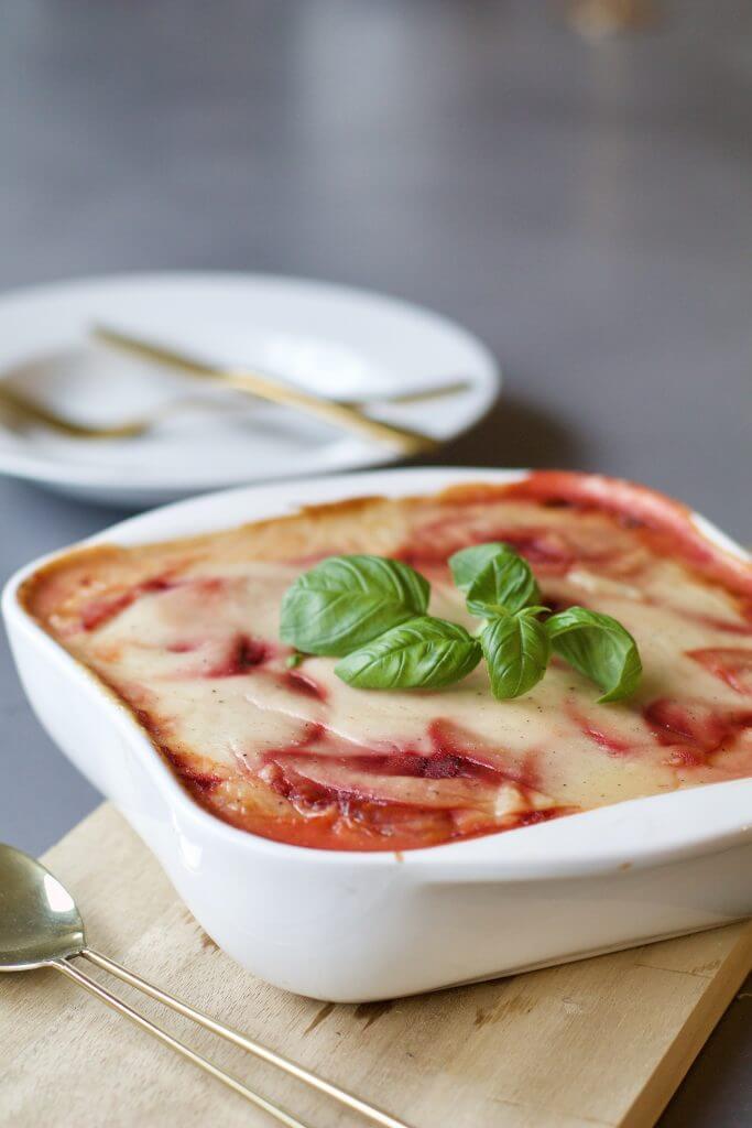 Vegetarische bietenlasagne met bechamelsaus , Gezonde lasagne recepten, Glutenvrije lasagne, Vegetarische foodblogs, Beaufood recepten, Gezonde foodblogs, Slanke avondmaaltijden