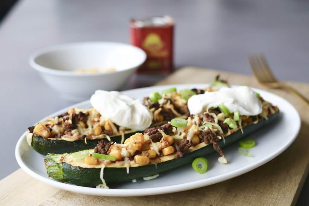 Mexicaans gevulde courgettes uit de oven, Gezonde avondmaaltijden, Slanke avondmaaltijden, Gezonde foodblogs, Mexicaanse recepten, Avondeten uit de oven