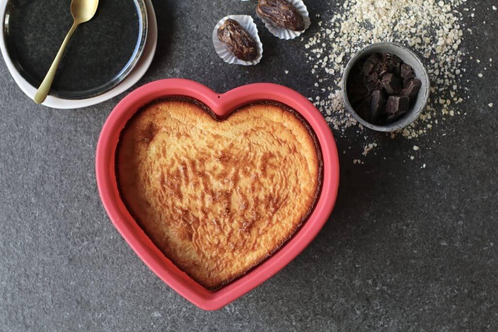 Vanille cheesecake met pure chocolade, Gezonde bakrecepten, Suikervrije bakrecepten, Gezonde verjaardagstaarten, Glutenvrije taart recepten, Gezonde foodblogs, Beaufood recepten, Gezonde cheesecake maken