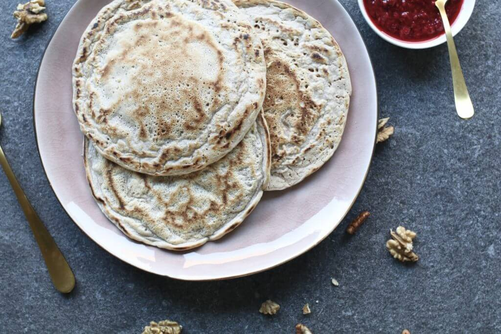 vegan pannenkoeken met frambozen - beaufood