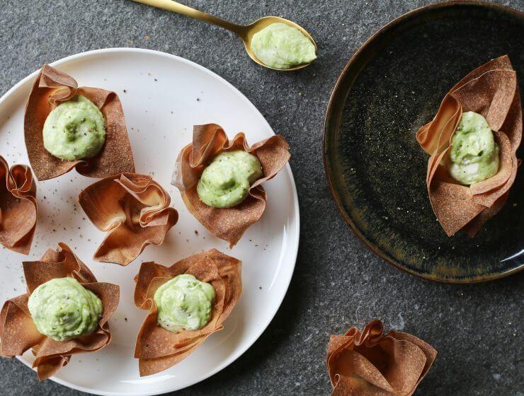 Filodeegcups met avocado swirl, Gezonde hapjes, Gezonde Foodblogs, Koolhydraatarme hapjes, Beaufood hapjes, Originele verjaardagshapjes, Hapjes uit de oven