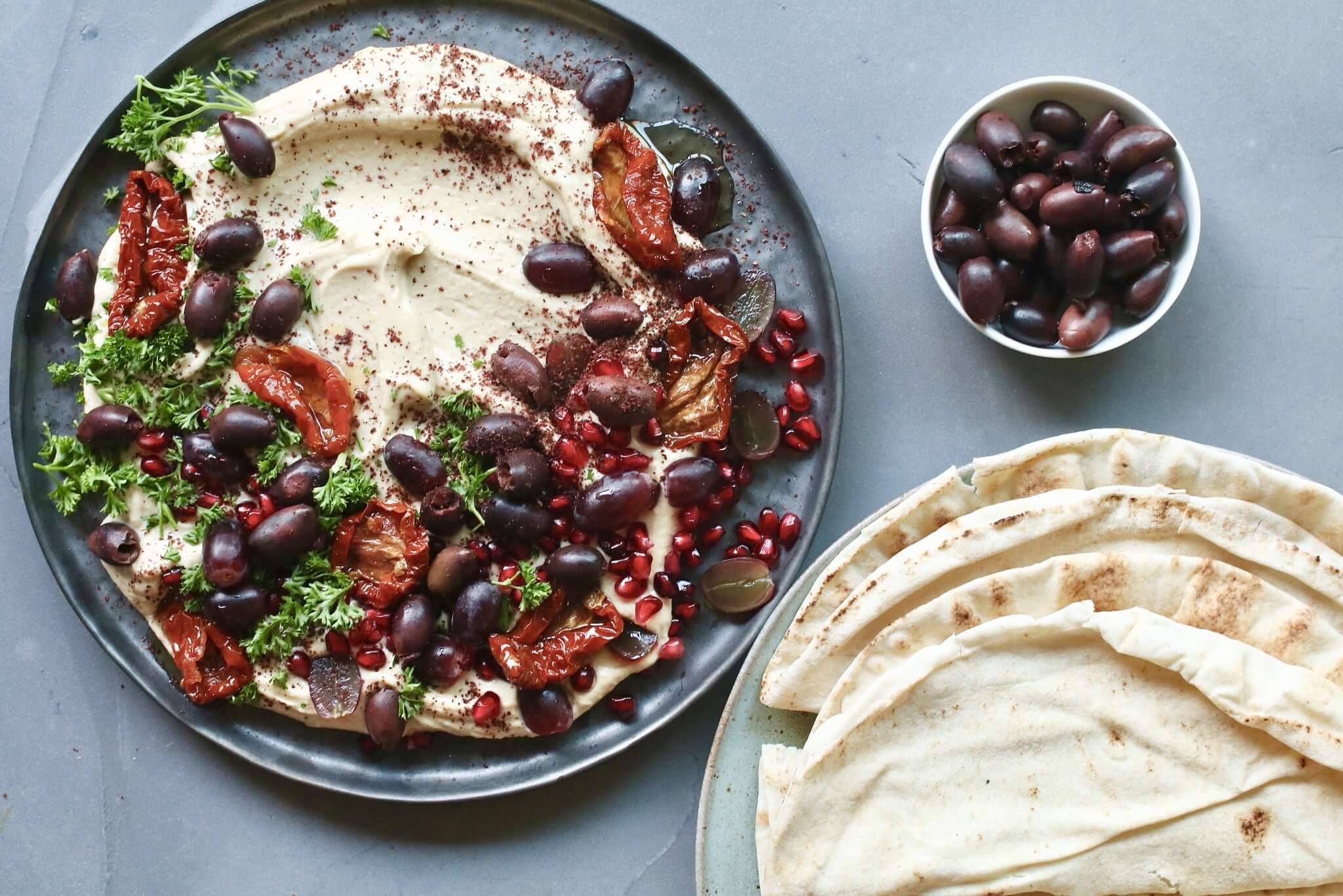 Hummus party plateau, Gezonde borrelhappen, Glutenvrije borrelhappen, Beaufood recepten, Gezonde foodblogs, Leuke borrelhapjes, Slanken borrelhapjes